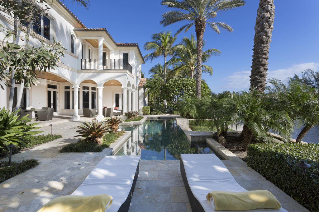 Pool Intracoastal Waterway View European Inspired Elegance Luxury Home Luxury Real Estate Waterfront Deepwater Dock South Florida Palm Beach County Pascal Liguori and Son Broker Associates