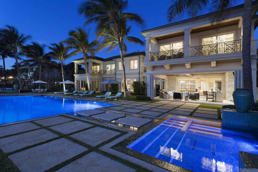 Luxury Real Estate Infinity Edge Pool Outdoor Living Space Resort Style Oceanfront Pascal Liguori and Son Broker Associates Premier Estate Properties Palm Trees Mansion