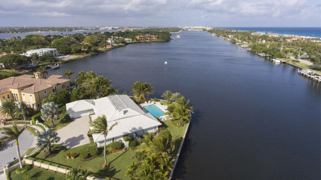 Deepwater Estate Luxury Real Estate Luxury Home Pascal Liguori and Son Million Dollar Listing Beautiful Homes House Beautiful Luxe Waterfront Home Palm Trees SoFloRealEstate South Florida Realty Brokers Premier Estate Properties